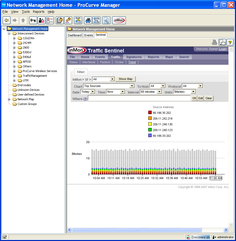 Integrating Traffic Sentinel into HP ProCurve Manager